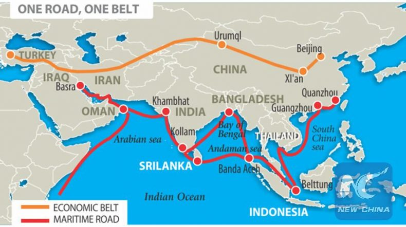 Image result for china, belt and road, map